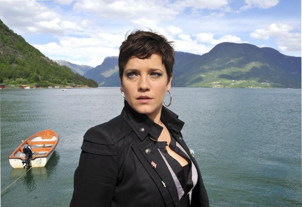 Liebe Am Fjord Die Frau Am Strand