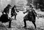 Euch werd' ich es zeigen! Jean Marais (r.) als Edelmann Chevalier Henri de Lagardère