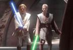Eigentlich hätte ich lieber ein rotes Schwert! Ewan McGregor (l.) und Hayden Christensen