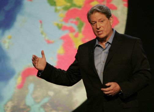 In seinem Element: Ex-Vize Al Gore