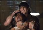Und noch einer wird umgenietet: Sylvester Stallone bei der Arbeit