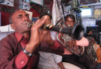 Folkloristisches Indien: Band in Bundi/Rajasthan