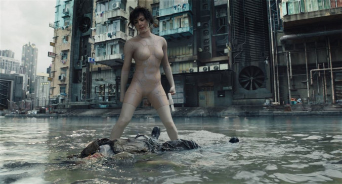 "Scarlett Johansson als Major in ""Ghost in the Shell""."