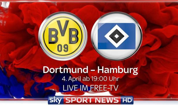 BVB gegen HSV live im Free-TV