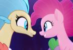 Prinzessin Skystar (gesprochen von Beatrice Egli) möchte Pinky Pie und ihren Freunden helfen.