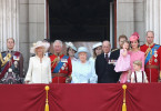 Die Royale Familie von Großbritannien auf dem Balkon des Buckingham Palastes. Der Anlass: die Militärparade am 17. Juni 2017.