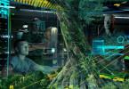 Jake (Sam Worthington, l.) und Colonel Quaritch (Stephen Lang) machen sich vor einem virtuellen Modell ein Bild von den Örtlichkeiten, die Jake auf Pandora vorfinden wird.