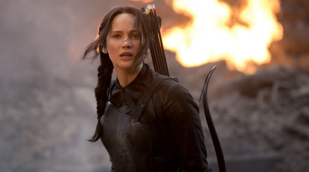 "Jennifer Lawrence als Katniss Everdeen in ""Die Tribute von Panem - Mockingjay Teil 1""."