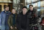 Beim Dreh: Michael A. Grimm (Rolle Alexander Behrens), Stefanie Stappenbeck (Rolle Linett Wachow, Florian Martens (Rolle Otto Garber) und Regisseur Johannes Grieser.