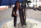 Christiane zu Salm in Mainz, ihrer Heimatstadt, wo sie ein christliches Mädchen-Gymnasium besuchte.