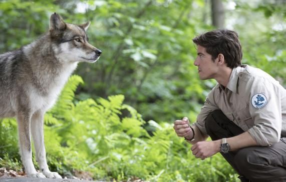 Jonas Waldek (Philipp Danne) mit Wolf.