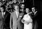 50. Geburtstag von Aenne Burda mit ihrer Familie, 1959.