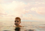 Water baby. Babies have a natural reflex that stops them from breathing through their nose when submerged under water.