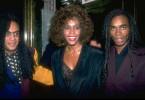 Milli Vanilli im März 1990 im Pop-Olymp: mit Grammy in der Tasche und Whitney Houston im Arm