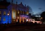"""Im Prinzregententheater in München wird der Bayerische Fernsehpreis, der """"Blaue Panther"""", verliehen."""
