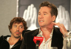 Einst adrett und nett: Hollywood-Star Val Kilmer (mit Robert Downey jr.).