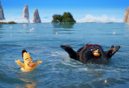 Chuck und Bombe in Sony Pictures' und Rovios Animations ANGRY BIRDS - DER FILM (3D)