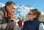 Juliane (Lisa Martinek) ist mit Büffel (Christoph Waltz) in die Schweiz gereist