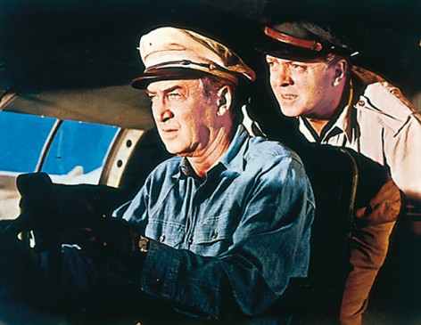 Ob die Kiste fliegt? James Stewart (l.) und