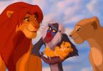 Auf zu großen Abenteuern! Simba (l.) und seine Freunde