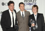 "Die Erfolgsgaranten von ""Two and a Half Men"": Charlie Sheen, Angus T. Jones und Jon Cryer."
