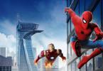 Spider-Man (Tom Holland, vorne), Iron Man (Robert Downey Jr.)