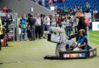RTL-Kamera im Fußballstadion.
