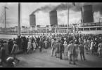 Die Abfahrt eines Transatlantikschiffs war in den Häfen immer ein großes Ereignis.